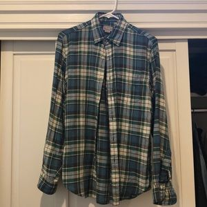 Men's plaid flannel shirt, small, by J Crew